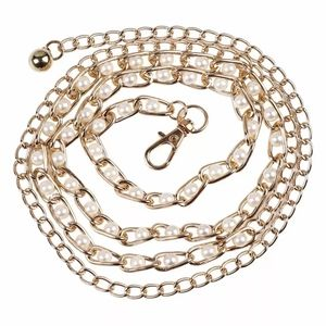 **3/$25** Gold Chain Belt with White Pearls
